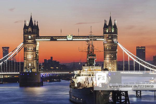 England  London  Tower Bridge at Dawn