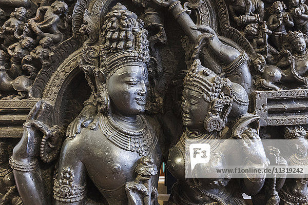 England  London  British Museum  Asian Room  Sculpture depicting Shiva and Parvati from Orissa in India dated 12th-13th century