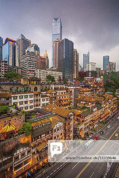 China  Chongqing City  Jiefangbei district  Hongya Dong