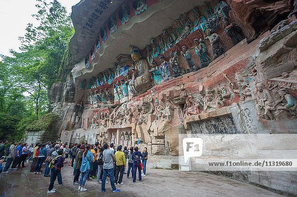 China  Chongqing province  Dazu Buddhist Caves  world heritage