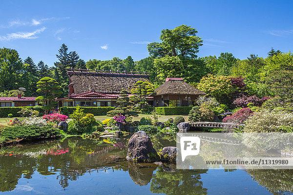 Yamanashi Province  Oshino Mura  Minami Tsuru District  Shibosuka  garden