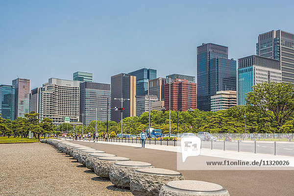 Japan  Tokyo City  Marunouchi Financial District Skyline