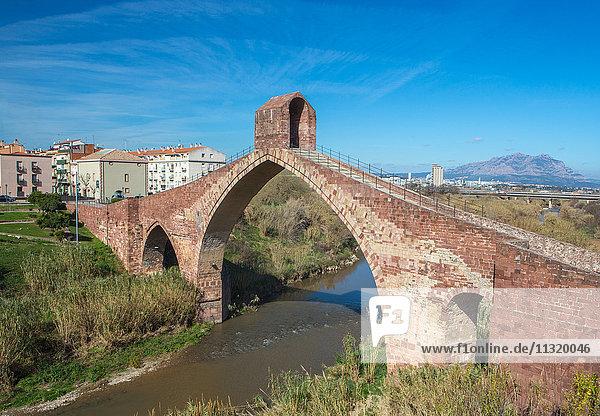 Spain  Catalonia  Barcelona Province  Martorell City  Devil's Bridge  roman built