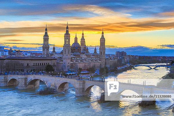 Spain  Aragon Region  Zaragoza  Saragossa  City  El Pilar Basilica