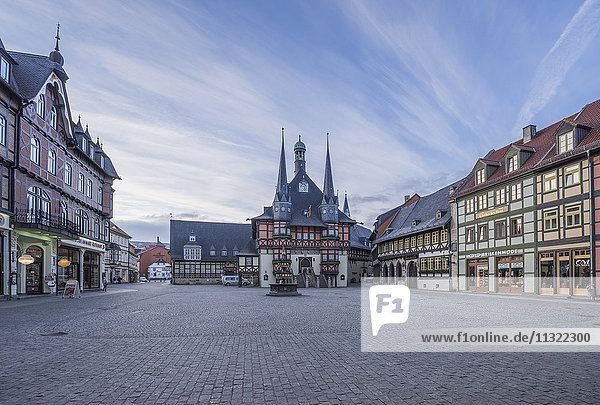 Germany  Wernigerode  view to town hall and market square