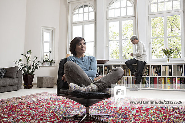 Mature couple at home
