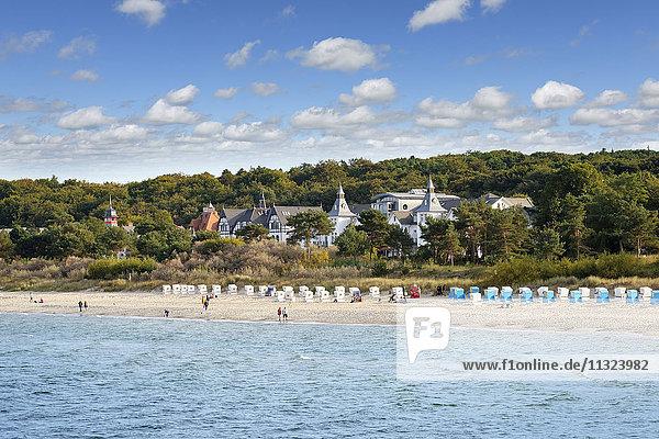 Deutschland  Usedom  Zinnowitz  Blick auf den Strand mit Ostsee im Vordergrund