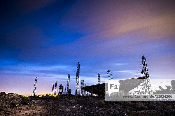 Spanien  Teneriffa  Radar bei Nacht