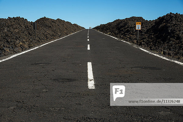 straight road in Tenerife