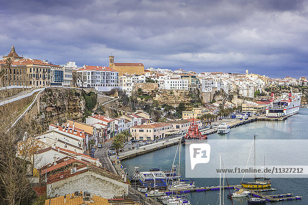 Mao town in Menorca