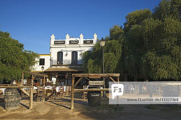 restaurant in El Rocio on Costa de la Luz in Andalusia