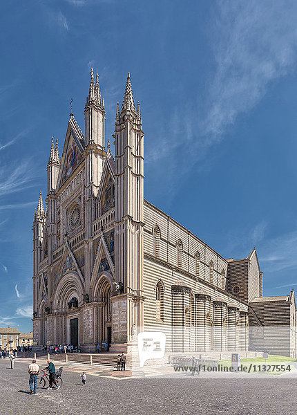 Orvieto cathedral in Umbria