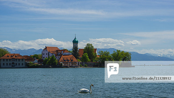 Baroque church in Linau on the Lake of Constance