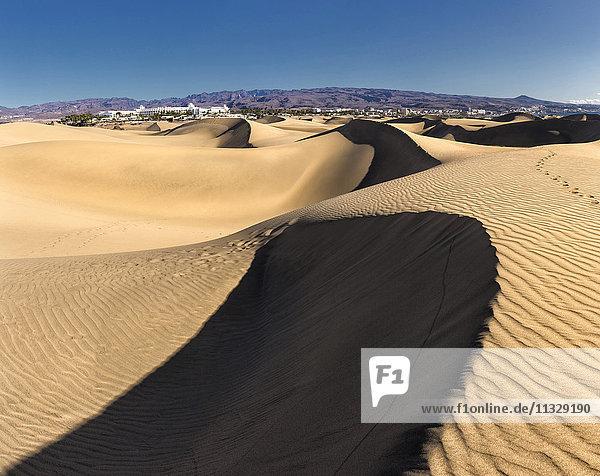 Sand dunes in Maspalomas  Gran Canaria  Canary Islands