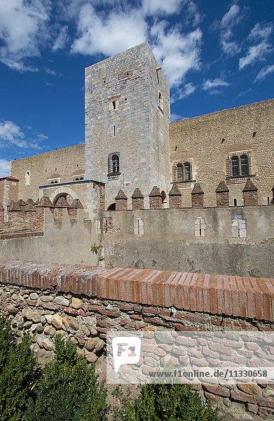 Perpignan fortress in France
