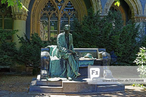 Sandor statue in Vajdahunyad castle in Budapest