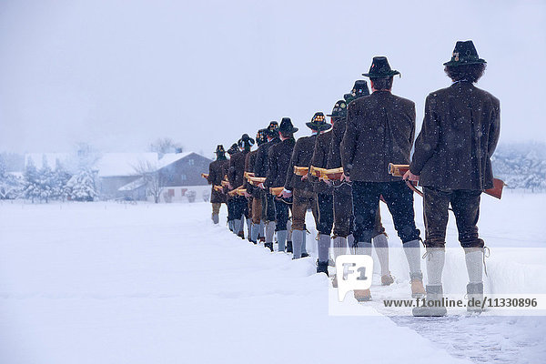 saluting gun fire in Upper Bavaria