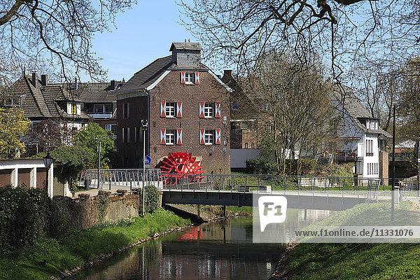 waterwheel in Goch  North Rhine-Westphalia  Germany