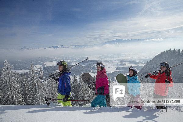 Winter sports in Atzmännig  Switzerland