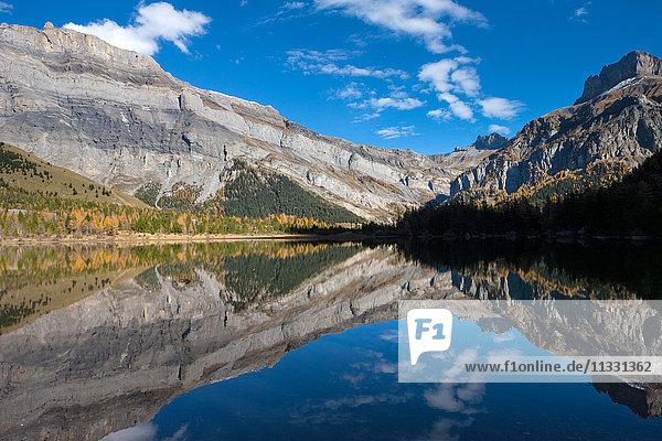 Lac de Derborence lake in the canton of Valais