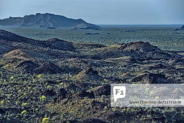 pinacate montains and elegante crater in Mexico