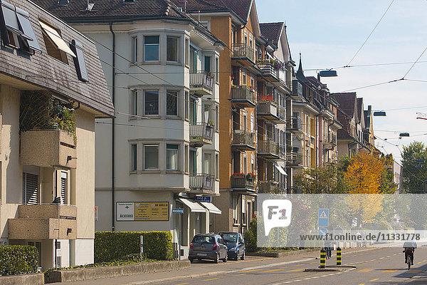 Mutschellenstrasse street in Zurich  Switzerland