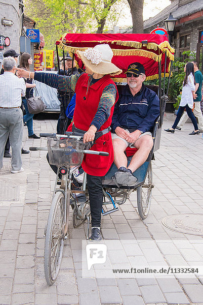 Asia China Beijing rickshaw