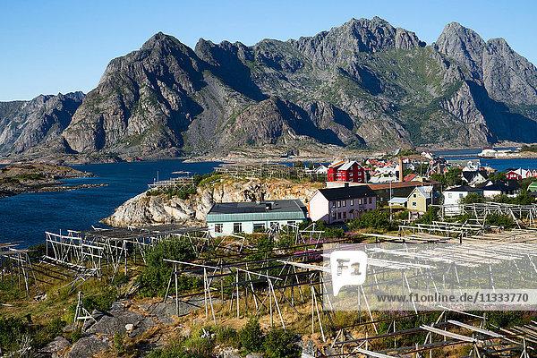 Europe  Norway  Lofoten  Henningsvaer  the village