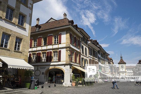 Switzerland  Canton Fribourg  Murten  Morat  old town