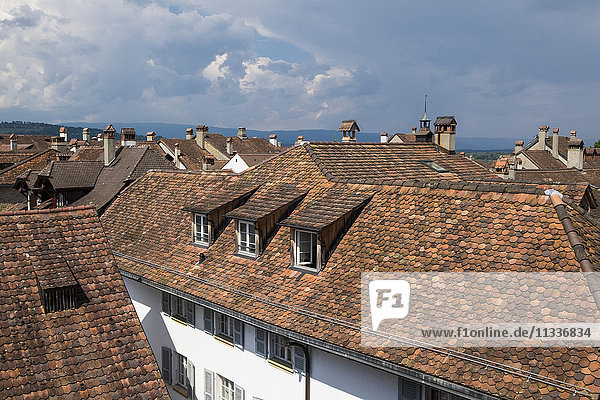 Switzerland  Canton Fribourg  Murten  Morat  view from fortress