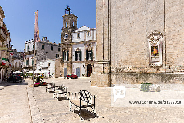 Italy  Apulia  Martina Franca  clock tower in Piazza Plebiscito