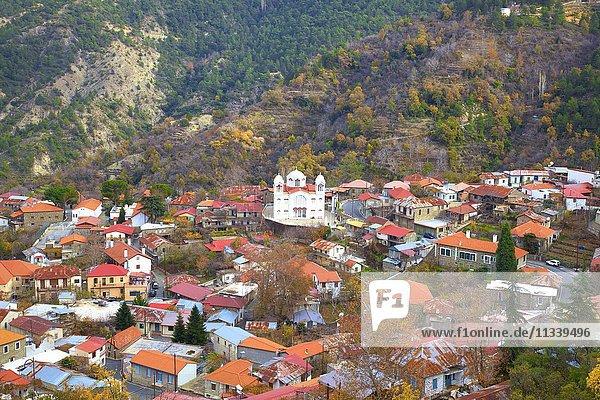 Village of Pedoulas,  Troodos Mountains,  Cyprus,  Eastern Mediterranean,  Europe