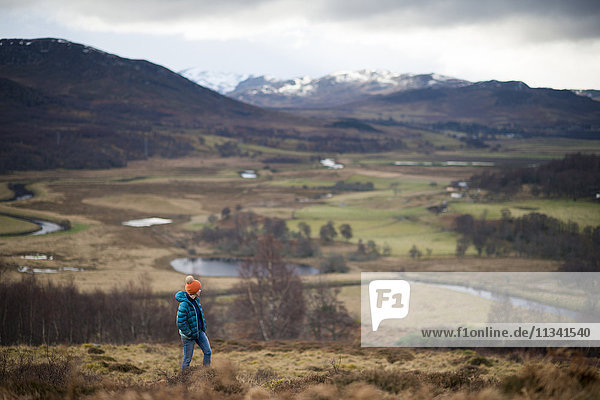 Walking near Newtonmore in the Cairngorms National Park  Highlands  Scotland  United Kingdom  Europe