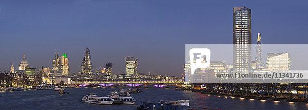 City and Blackfriars panorama with The Shard  London  England  United Kingdom  Europe