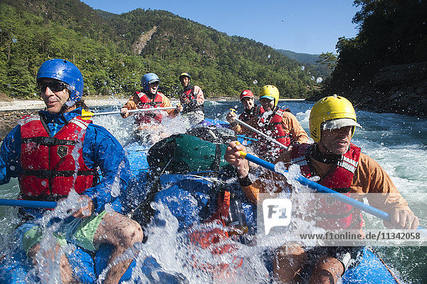 A rafting expedition on the Karnali River  west Nepal  Asia