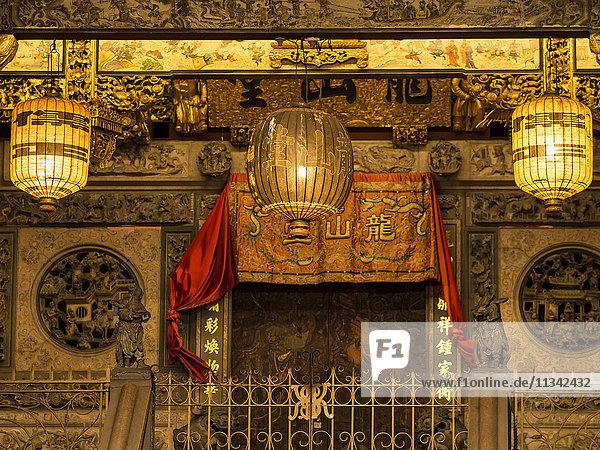 Khoo Kongsi clan temple  Penang  Malaysia  Southeast Asia  Asia