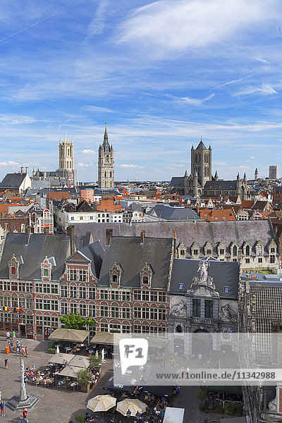 View of Ghent  Flanders  Belgium  Europe