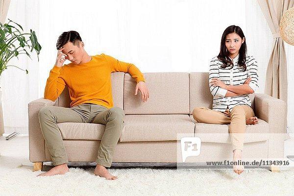 Young lovers quarrel