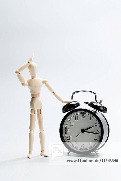 Puppet and alarm clock