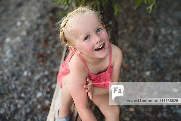 Portrait of cute girl at Lake Ontario  Oshawa  Canada