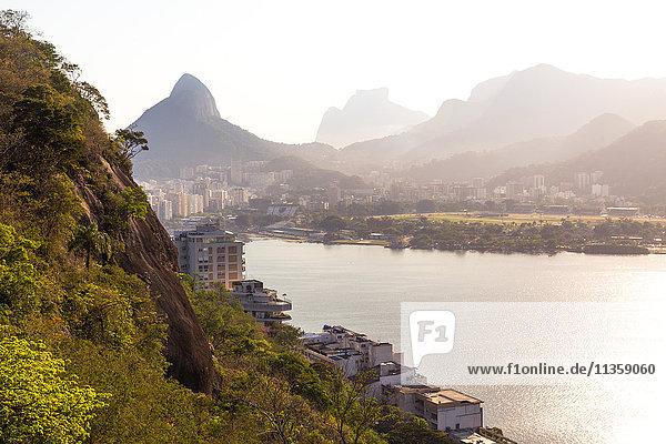 Pedra da Gávea  Rodrigo de Freitas Lagoon  Rio de Janeiro  Brazil