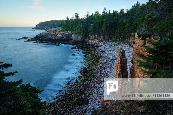 View of monument cove and atlantic ocean  Acadia National Park  Maine  USA
