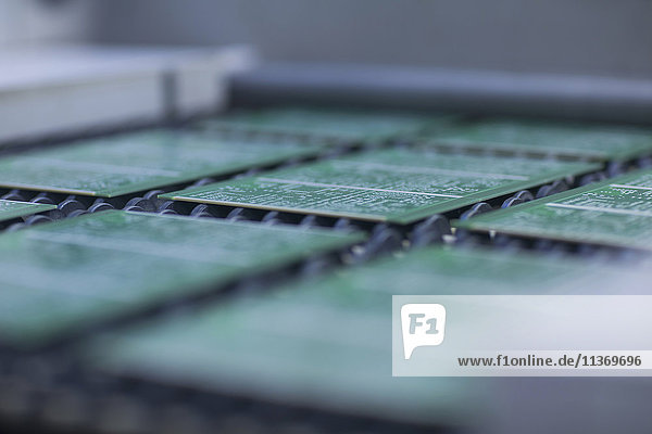 Close-up of circuit board in industry  Hanover  Lower Saxony  Germany