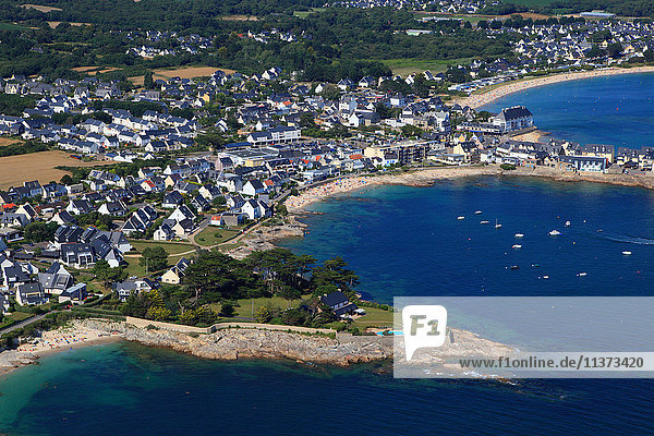 Frankreich  Bretagne  Morbihan. Lomener. Luftaufnahme.