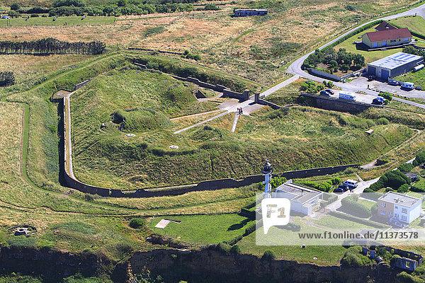 Frankreich  Nordfrankreich  Pas de Calais. Alprech. Leuchtturm und Festung am Kap Alprech