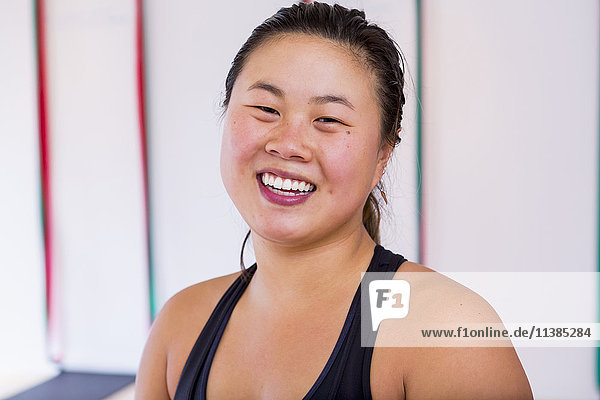 Portrait of smiling Asian woman