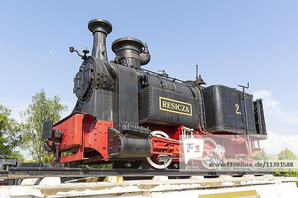 Erste in Re?i?a gebaute Lokomotive  1872  Dampflok Museum  Reschitz  Resita  Banat  Rumänien  Europa