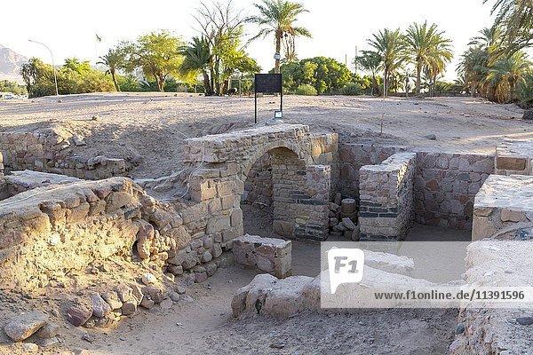 Ausgrabungsstätte der mittelalterlichen islamischen Stadt Ayla  Aqaba  Jordanien  Asien