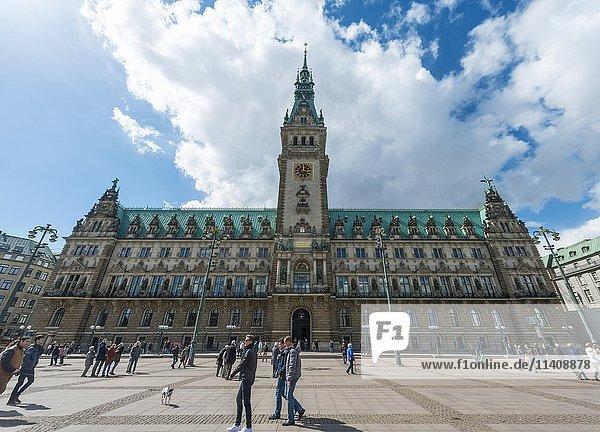 Hamburger Rathaus  Hamburg  Deutschland  Europa