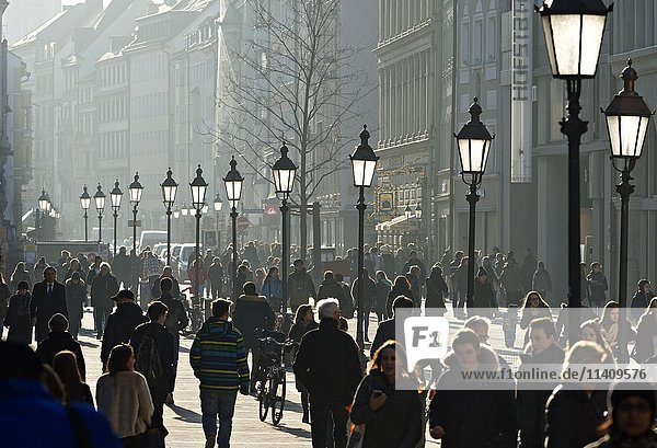 Pedestrian zone Sendlinger Straße  Sendlinger Street  Munich  Upper Bavaria  Germany  Europe